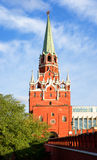 Moscow. Kreml. Troitskaya (Trinity) Tower. Royalty Free Stock Photography