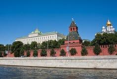 Moscow. Kreml.Wall, Kremlin Palace and Cathedrals. Moscow. Kreml.Kremlevskaya Wall, the Grand Kremlin Palace and Cathedrals stock photos