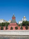 Moscow.Kremlevskaya Wall and Cathedrals Stock Images