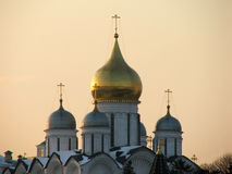 Moscow Kremlin 1. Cathedral of the Moscow Kremlin stock images