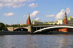 Moscow Kremlin. View from the river Stock Photos