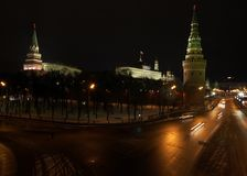 Moscow the Kremlin. View in the night royalty free stock photo