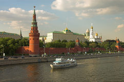 Moscow Kremlin. Moscow river, Russia Royalty Free Stock Photo