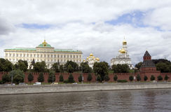 Moscow kremlin. View of moscow kremlin from bank of moskva river Stock Photo