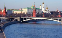 Moscow Kremlin cityscape Royalty Free Stock Images