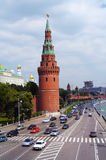 Moscow Kremlin. Highway along walls of the Moscow Kremlin Stock Images