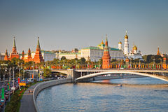 Moscow Kremlin. At sunset, Russia Stock Photography