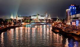 Moscow Kremlin. In the night Stock Images
