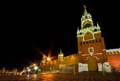 Moscow Kremlin. Kremlin (Cremlin) in Moscow with towers, palace, cathedral, wall of stones, Moscow river, embankment and bridge Stock Photography