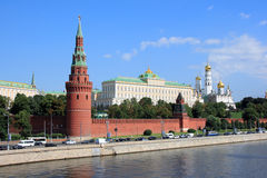 The Moscow Kremlin. And the Moskva River in a sunny day Royalty Free Stock Photo