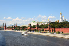 The Moscow Kremlin. And the Moskva River in a sunny day Stock Photo