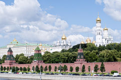 The Moscow Kremlin. The Kremlin in Moscow, walls, fortifications and churches and other buildings inside the wall Stock Photo