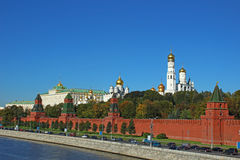 Moscow Kremlin. View of the Kremlin from the Moskva River embankment Royalty Free Stock Photography