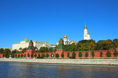 Moscow Kremlin. The view from the waterfront Stock Images