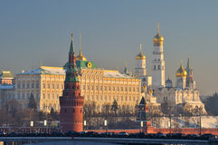Moscow Kremlin. With towers n winter stock photography