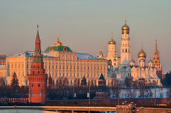 Moscow Kremlin. Panorama of Moscow Kremlin in winter Royalty Free Stock Photography