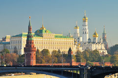 Moscow Kremlin. With churches and towers Royalty Free Stock Images