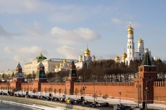 Moscow Kremlin. In sunny winter day Royalty Free Stock Photos