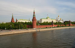 Moscow Kremlin. The Moscow Kremlin is a historic fortified complex at the heart of Moscow, overlooking the Moskva River Stock Photo