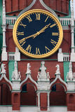 Moscow. Kremlin. Kremlin. Red Square. The Spasskaya Tower. Chiming Clock Stock Images