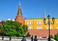 Moscow Kremlin and Alexander Garden Stock Photography