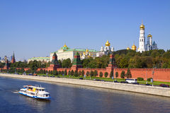 Moscow Kremlin And Moskva River Royalty Free Stock Image
