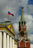 Moscow Kremlin And Russian State Symbols Royalty Free Stock Photography