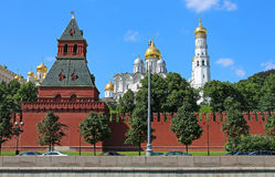 Moscow Kremlin and The Annunciation Cathedra, Russia Royalty Free Stock Images