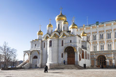 The Moscow Kremlin. Annunciation Cathedral  in winter, Moscow Royalty Free Stock Photo