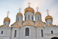 Moscow Kremlin. Annunciation church. Blue sky background. Royalty Free Stock Photo