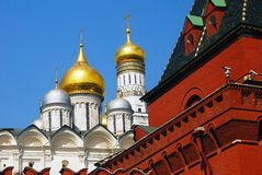 Moscow Kremlin. Archangels church and tower. Stock Image