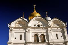 Moscow Kremlin. Archangels church. UNESCO World Heritage Site. Moscow Kremlin, a popular touristic landmark.  Archangels church. UNESCO World Heritage Site Royalty Free Stock Images