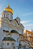 Moscow Kremlin. Archangels and Dormition churches. Color photo. Moscow Kremlin. Archangels and Dormition churches. UNESCO World Heritage Site. Color photo Stock Image