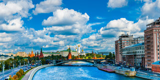 Moscow Kremlin as viewed from Patriarchy bridge Stock Photography
