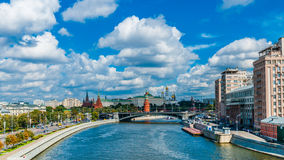 Moscow Kremlin as viewed from Patriarchy bridge Stock Photos