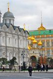 Moscow Kremlin in autumn. A guard watches the order. Stock Photos