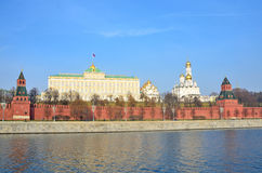 Moscow kremlin in autumn, Russia Stock Images