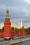 Moscow Kremlin. Autumn trees. Color photo. Royalty Free Stock Photography