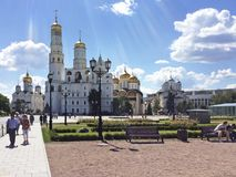 Moscow Kremlin behind the wall royalty free stock photography
