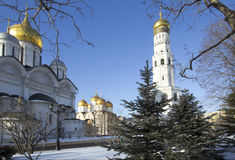 Moscow. Kremlin. The Bell Tower «Ivan The Great». Belfry of Ivan the Great Church-tower, located on Sobornaya square of the Moscow Kremlin Stock Photo