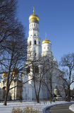 Moscow. Kremlin. The Bell Tower «Ivan The Great». Belfry of Ivan the Great Church-tower, located on Sobornaya square of the Moscow Kremlin Stock Image