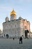 Moscow Kremlin. Blue sky background. Archangels church Royalty Free Stock Photo