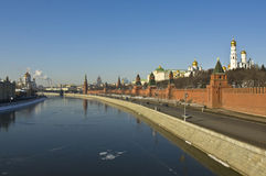 Moscow, Kremlin and cathedral of Jesus Christ Royalty Free Stock Image