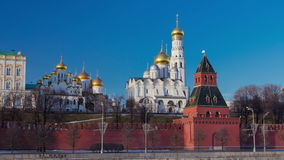 Moscow Kremlin Cathedral winter landscape stock footage