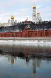Moscow Kremlin cathedrals Royalty Free Stock Photos