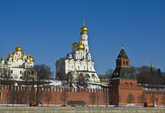 Moscow, Kremlin cathedrals Stock Photography