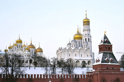 Moscow kremlin. Cathedrals of the Moscow Kremlin Stock Photography