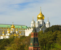 Moscow, Kremlin cathedrals Royalty Free Stock Photography