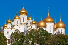 Moscow Kremlin Cathedrals Royalty Free Stock Photography