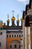 Moscow Kremlin, Church of Laying Our Lady's Ho. Moscow Kremlin inside, The Church of Laying Our Lady's Holy Robe in a sunny day. UNESCO World Heritage Site Stock Photography
